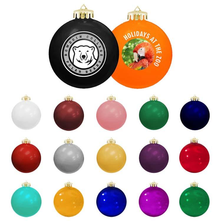 Boule de Noël ronde brillante incassable