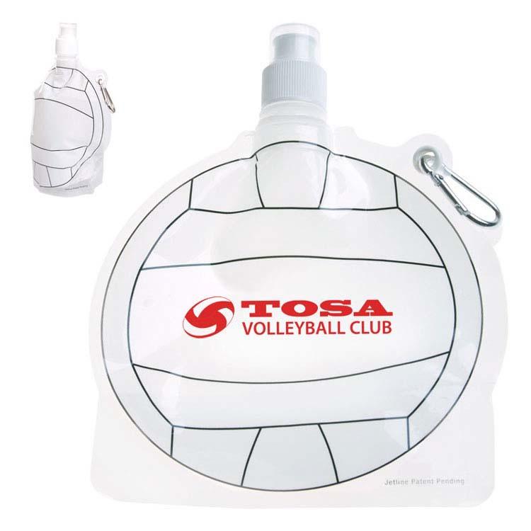 Bouteille d'eau pliable ballon de volleyball de 24 oz