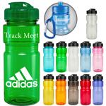 20 oz Translucent Recreation Bottle with Flip Top Lid