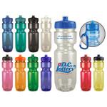 Translucent Bike Bottle with Push Pull Lid 22oz