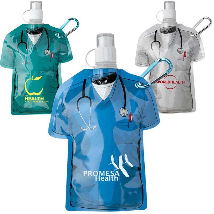 Bouteille pliable blouse médicale 16 oz