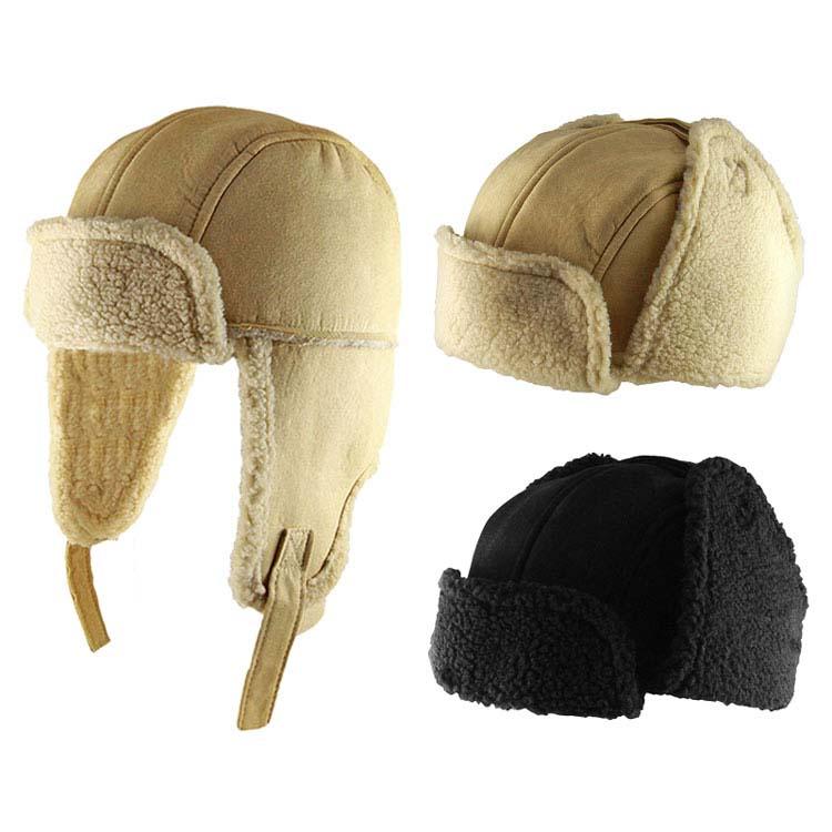 Chapeau de patrouilleur en fausse peau de mouton