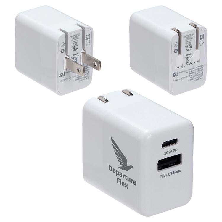 Chargeur rapide Sonic 20W USB-C avec deux sorties