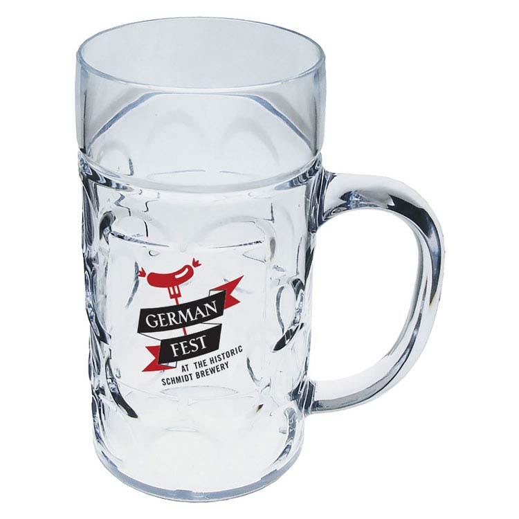 Chope à bière allemande en plastique de 1/2 litre