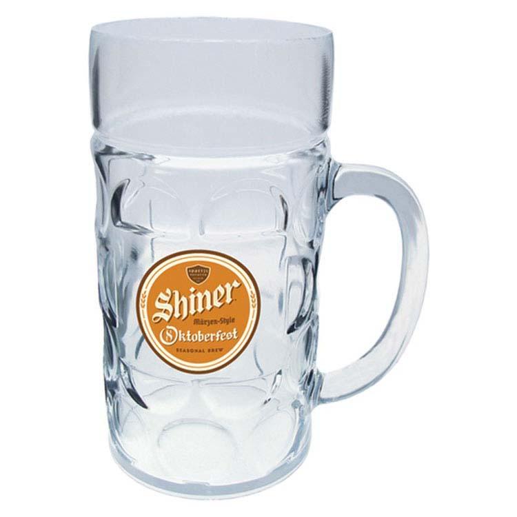 Chope à bière allemande en plastique de 1 litre