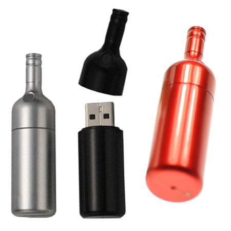 Clé USB en forme de bouteille de vin