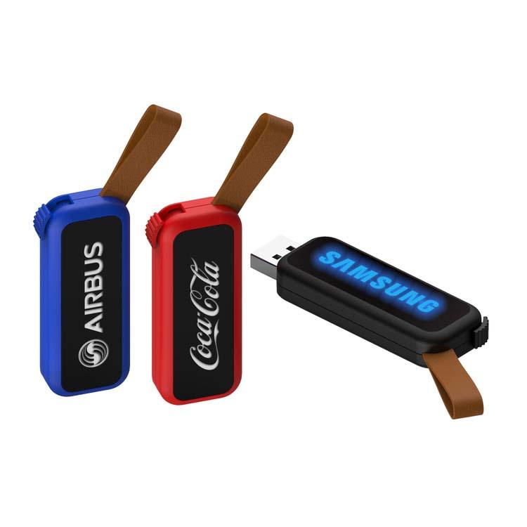 Clé USB lumineuse avec courroie
