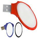 Clé USB pivotante ovale