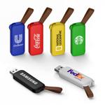 Clé USB rétractable avec petite dragonne