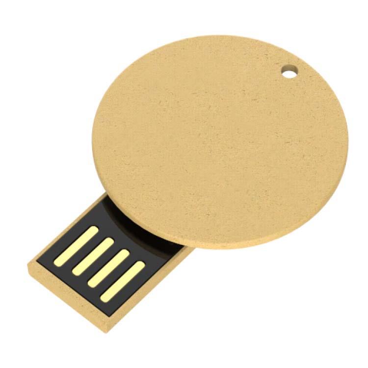 Clé USB ronde en papier