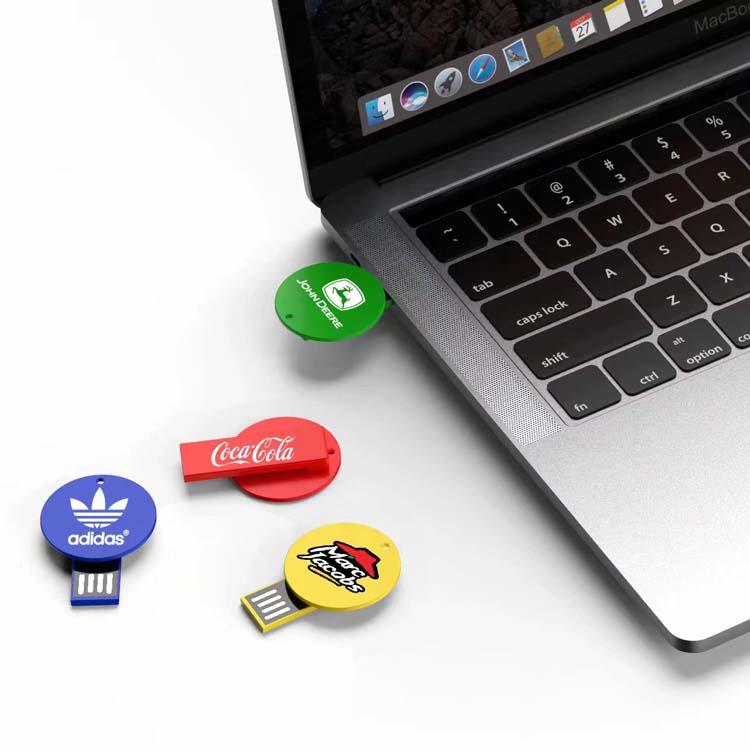 Clé USB ronde en plastique #2