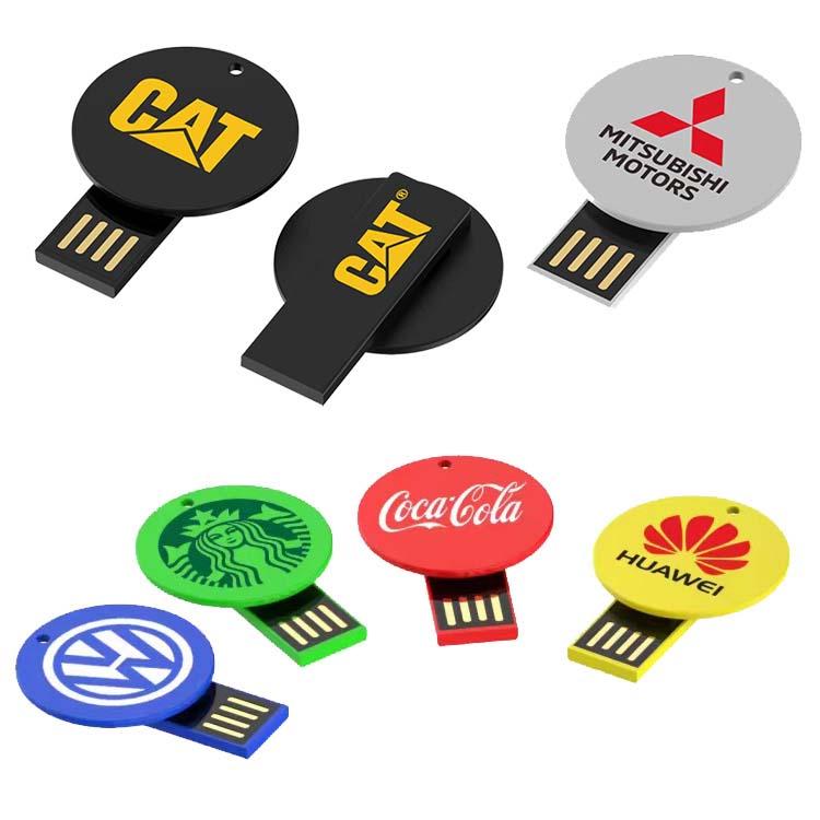 Clé USB ronde en plastique