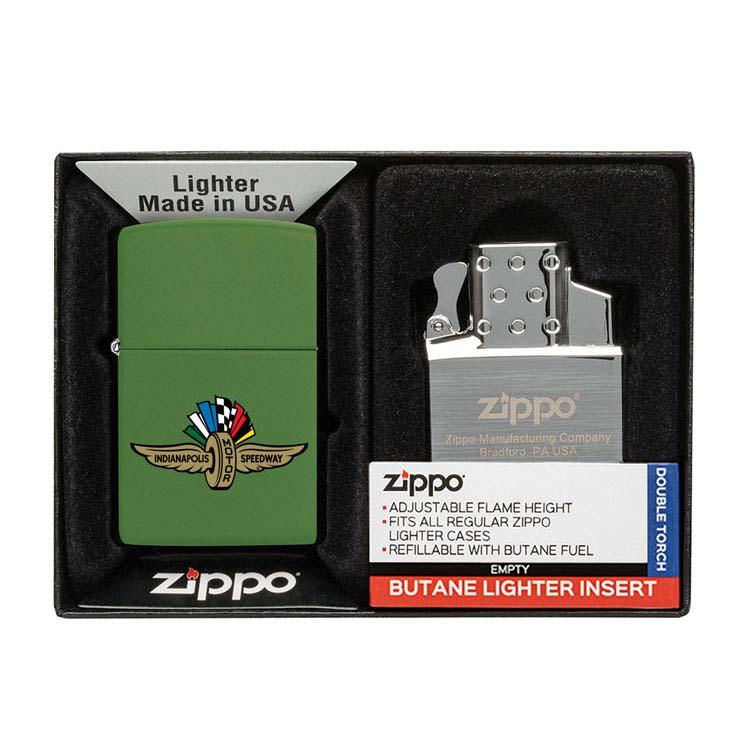 Coffret cadeau briquet Zippo mat et insert double butane #10