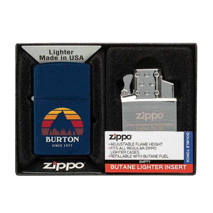 Coffret cadeau briquet Zippo mat et insert double butane #11