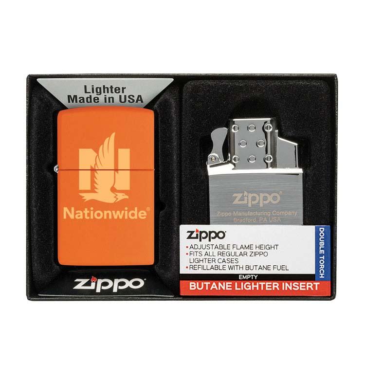 Coffret cadeau briquet Zippo mat et insert double butane #12