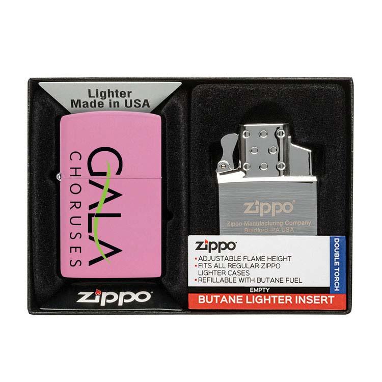 Coffret cadeau briquet Zippo mat et insert double butane #13