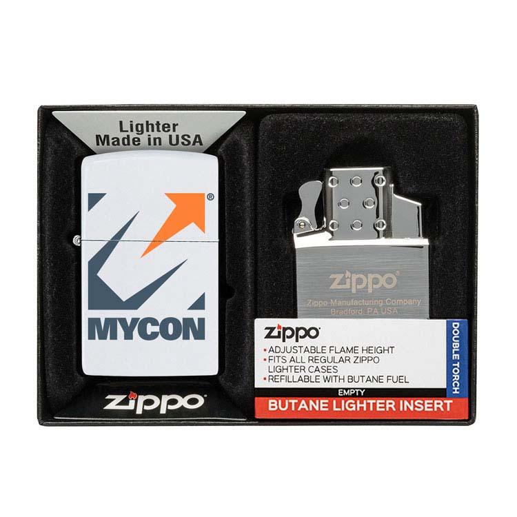 Coffret cadeau briquet Zippo mat et insert double butane #14