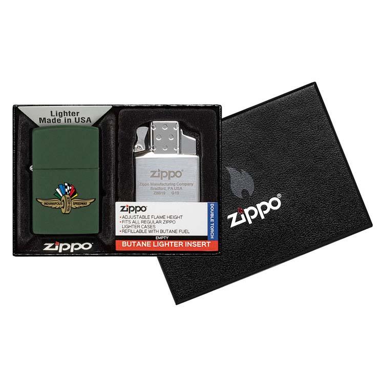 Coffret cadeau briquet Zippo mat et insert double butane #15