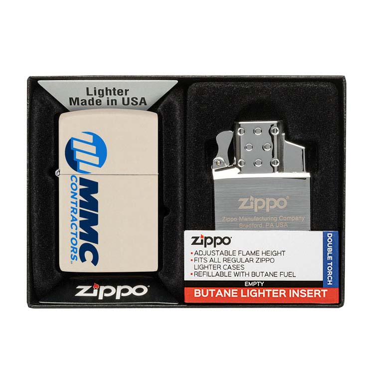 Coffret cadeau briquet Zippo mat et insert double butane #6