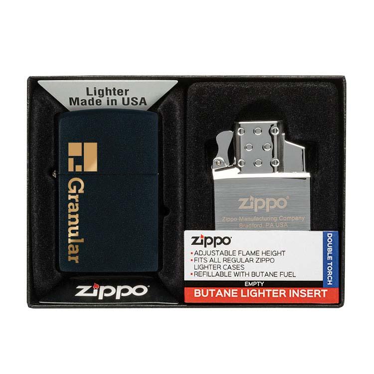 Coffret cadeau briquet Zippo mat et insert double butane #7
