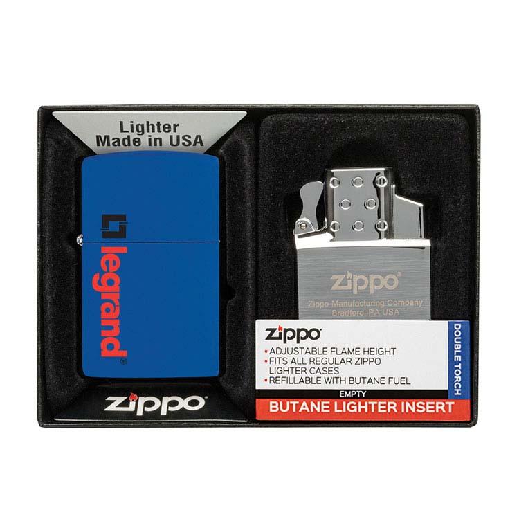 Coffret cadeau briquet Zippo mat et insert double butane #8