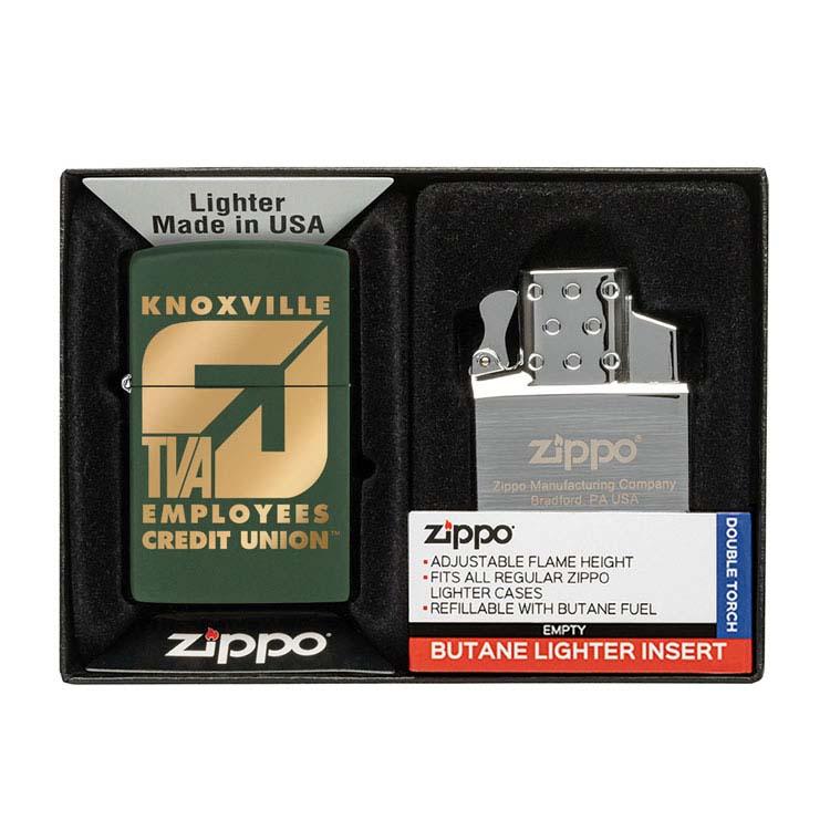 Coffret cadeau briquet Zippo mat et insert double butane #9