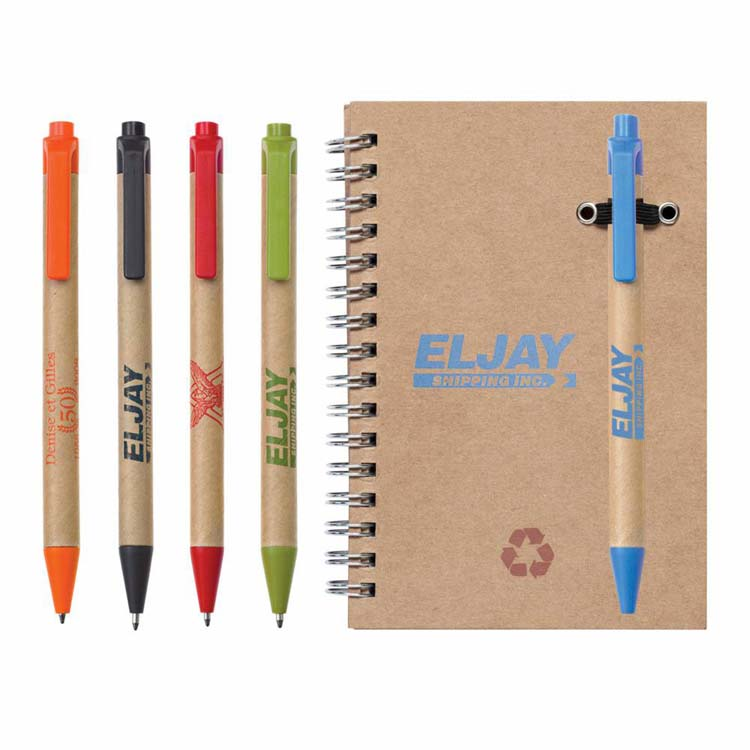 Recycled Notebook and Pen Combo