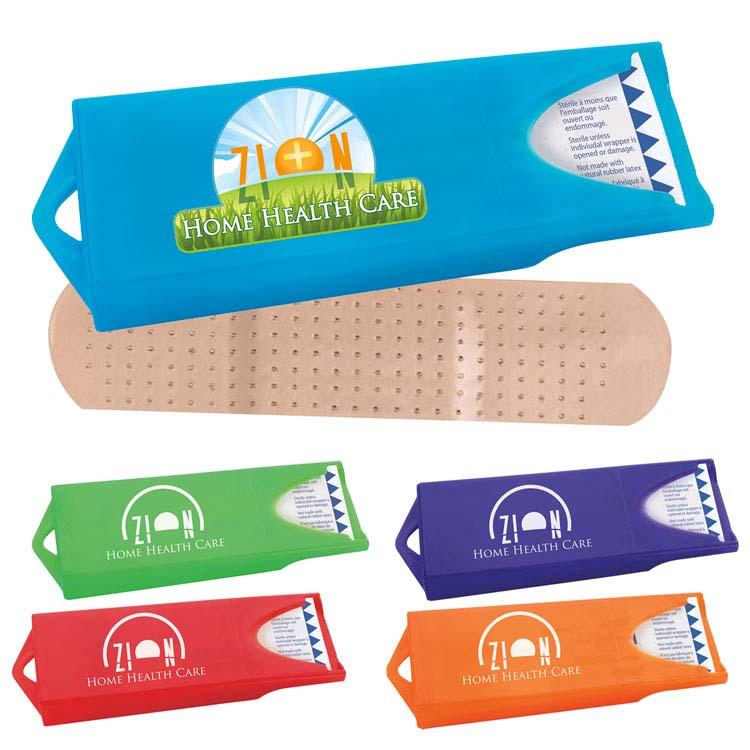 Distributeur coloré original avec pansements