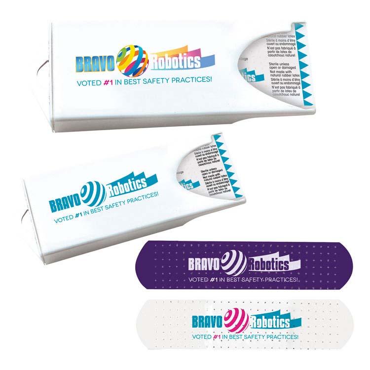 Distributeur original avec pansements blancs personnalisés