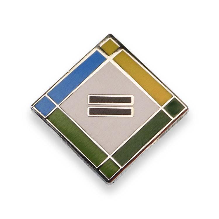 Épinglette cloisonnée carrée #2