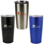 Stainless Steel Double Wall Tumbler with Anti-Splash Lid 17 oz