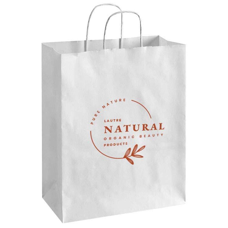Grand sac en papier recyclé blanc