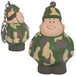Army Bert Stress Reliever Keychain