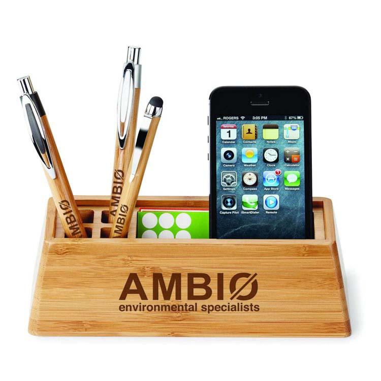 Organisateur de bureau Bambou