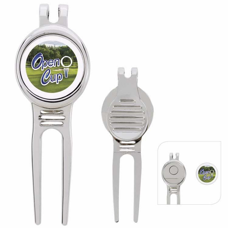 Outil Divot avec marqueur de balle pour golfeurs