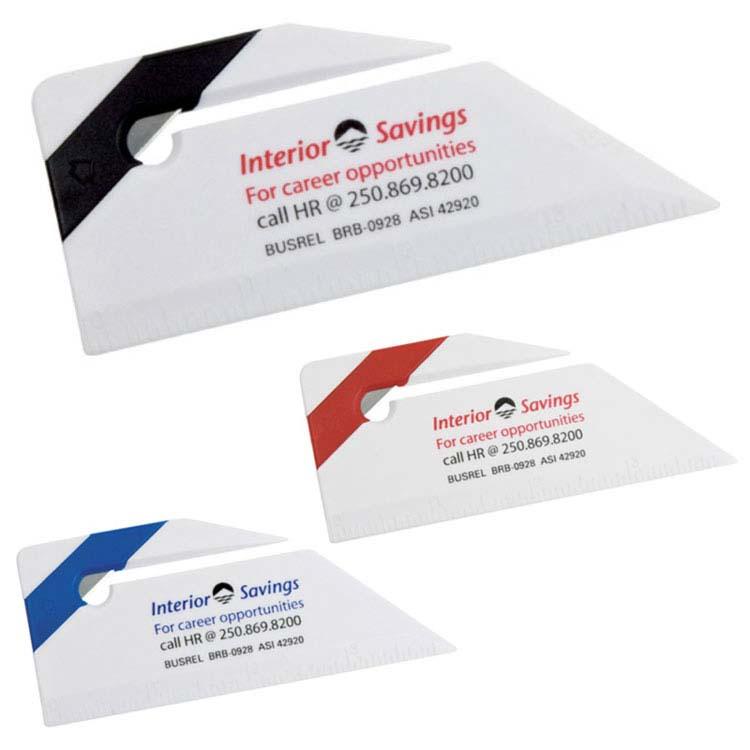 Ouvre-lettres avec mini-règle et équerre