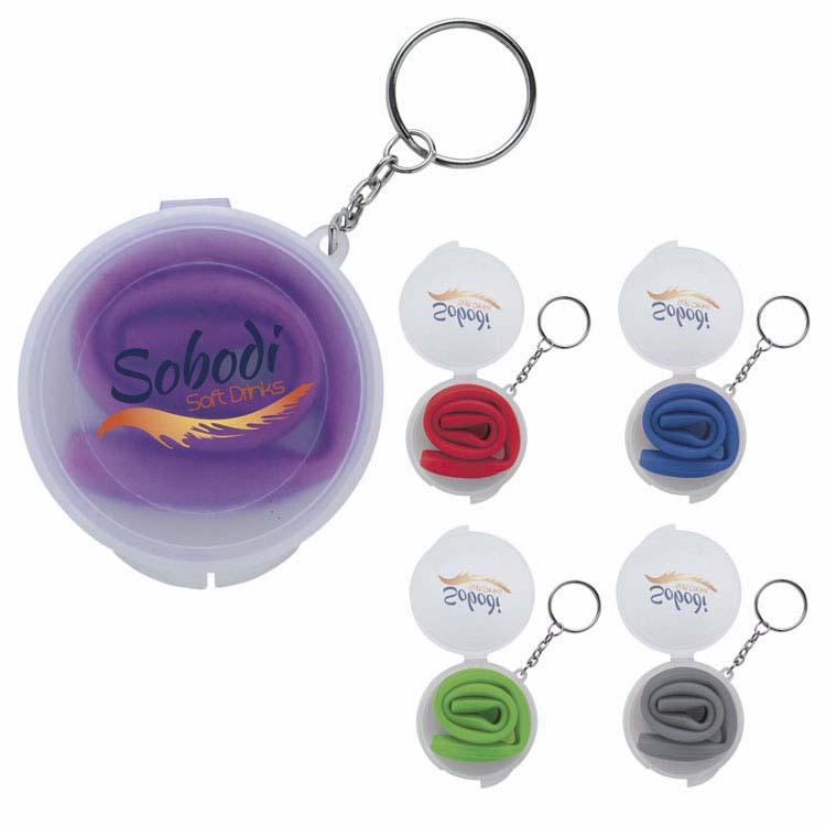 Paille en silicone Delight dans une boîte avec porte-clés