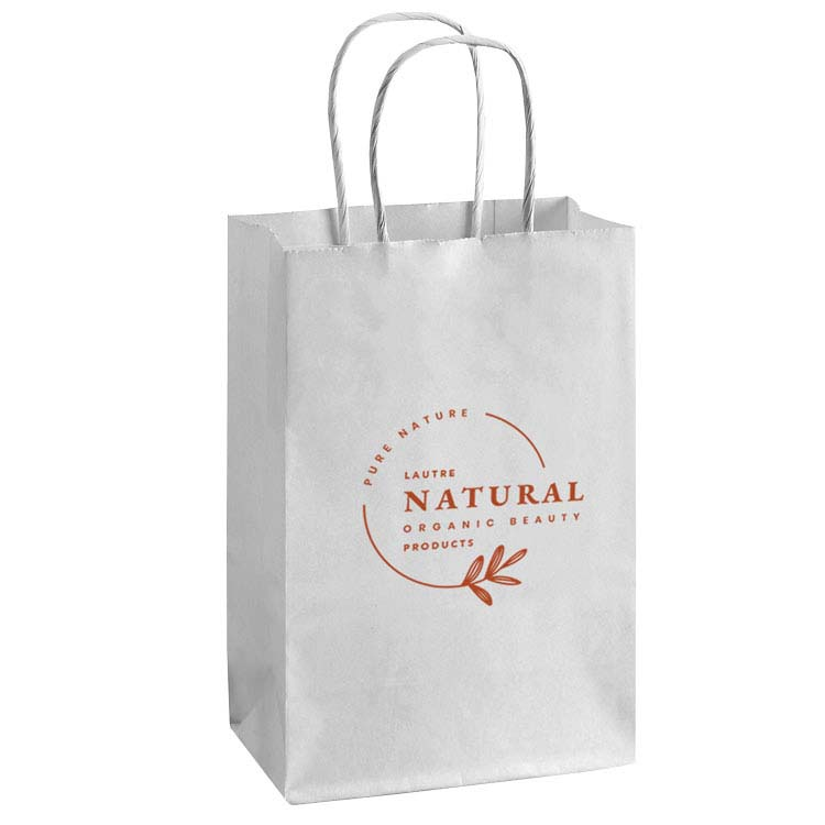 Small White Recycled Paper Bag