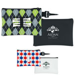 Pochette de golf à motifs avec accessoires