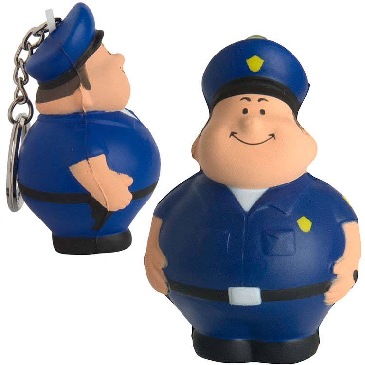 Policier porte-clés anti-stress