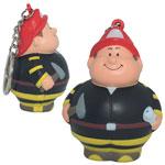 Fireman Bert Stress Reliever Keychain