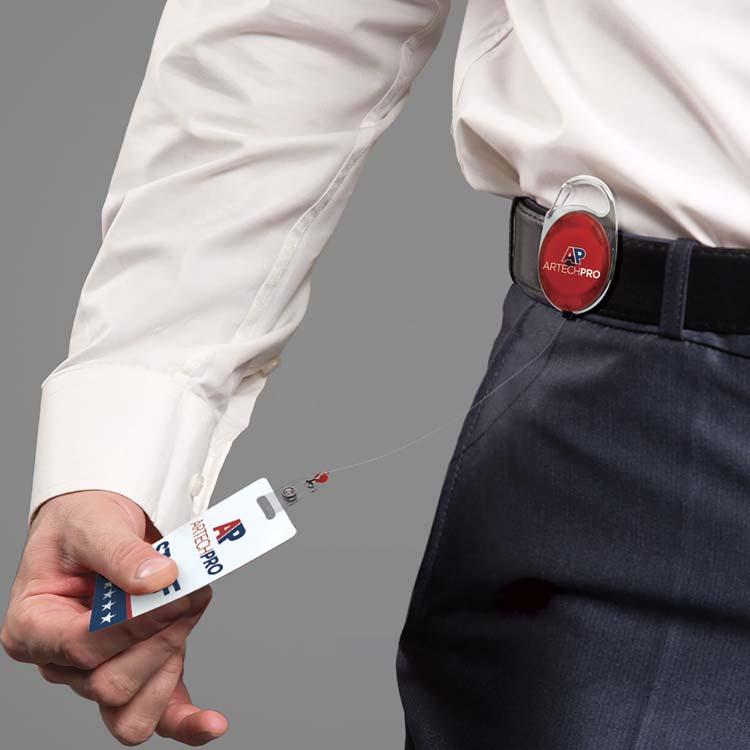 Porte-carte d'identité avec cordon rétractable #3