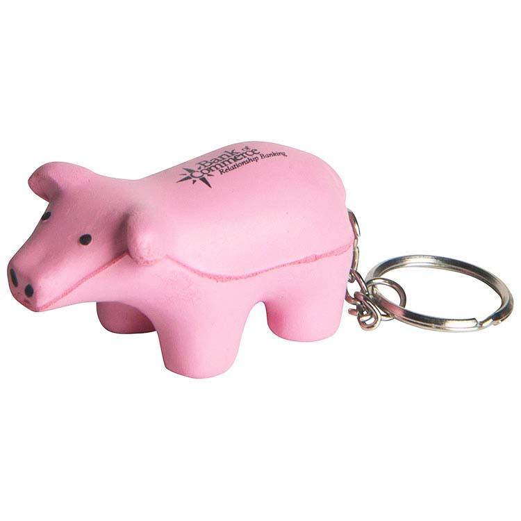Porte-clés cochon anti-stress