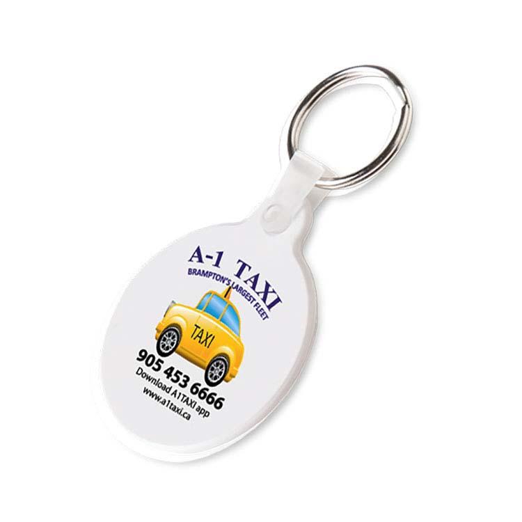 Porte-clés flexible mince rond