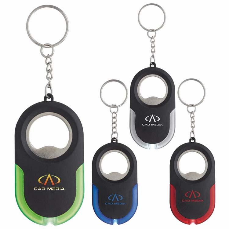 Porte-clés lumineux Eclipse avec ouvre-bouteille