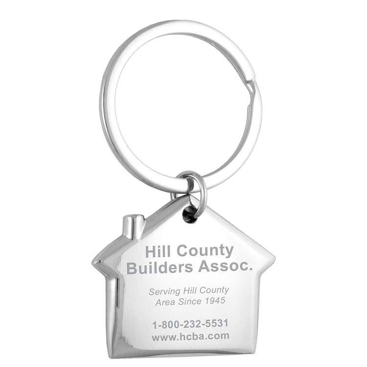 Porte-clés maison en métal gravé #2