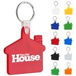Porte-clés souple en forme de maison