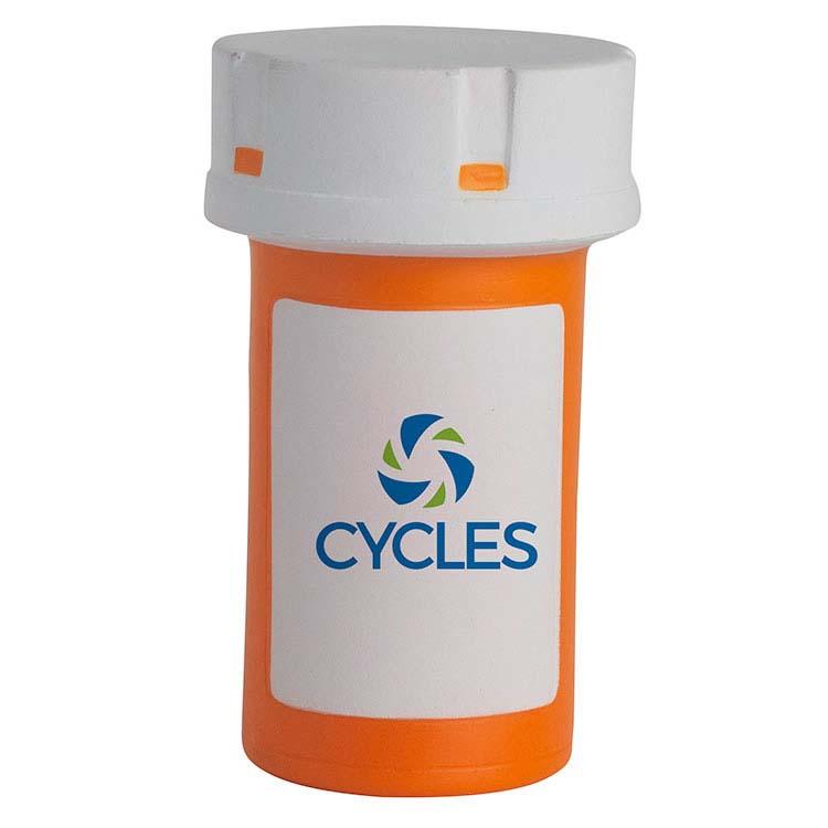 Pot de pilules anti-stress