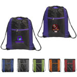Porter Collection 210D Polyester and Mesh-Patterned Drawstring Bag