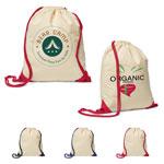 5 oz Cotton Ridge Accent Corner Drawstring Backpack